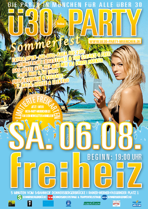 Flyer Ü30 PARTY Sommerfest 06.08.2016